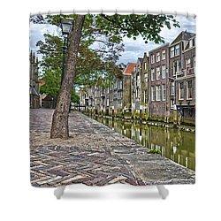 Dordrecht Behind The Church Shower Curtain by Frans Blok