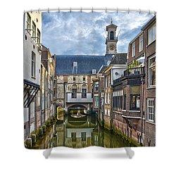 Dordrecht Town Hall Shower Curtain by Frans Blok