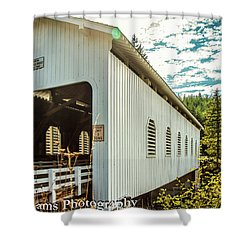 Dorena Covered Bridge Shower Curtain