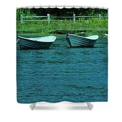 Dories Shower Curtain by John Wartman