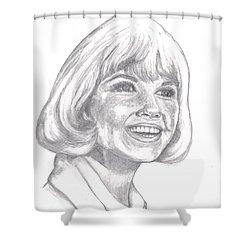 Doris Day  Shower Curtain by Carol Wisniewski