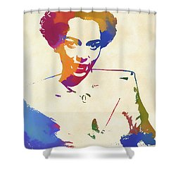 Dorothy Dandridge Watercolor Shower Curtain