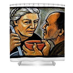 Dorothy Day Feeding The Hungry - Jlddf Shower Curtain