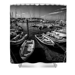 Dory Dock Shower Curtain by Kevin Cable