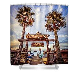 Dory Fishing Fleet Market Picture Newport Beach Shower Curtain by Paul Velgos