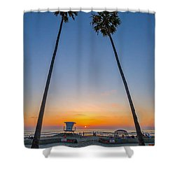 Dos Palms Shower Curtain