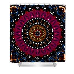 Dotted Wishes No. 5 Kaleidoscope Shower Curtain by Joy McKenzie