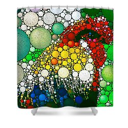 Dotty Doodle Doo Shower Curtain