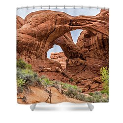 Double Arches, Arches National Park Shower Curtain