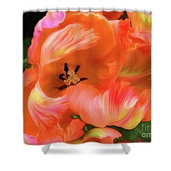 Double Dutch Tulips Shower Curtain