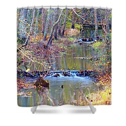 Double Falls Shower Curtain