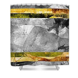 Double Framed Portrait Shower Curtain by Andrea Barbieri