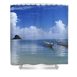 Double Hull Canoe Shower Curtain by Joss - Printscapes