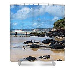 Double Island Point  Shower Curtain