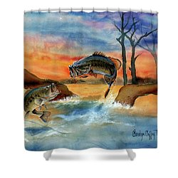 Double Jump Detail Shower Curtain