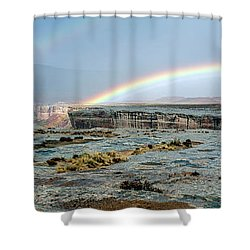 Double Rainbow Shower Curtain