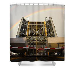 Double Rainbow Mystic Drawbridge Shower Curtain