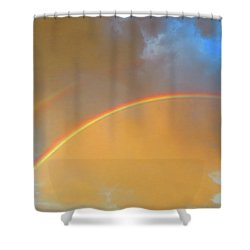Double Rainbows In The Desert Shower Curtain