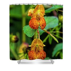 Double Shot Of Jewelweed Shower Curtain