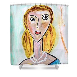 Shower Curtain featuring the painting Double Strand by Mary Carol Williams