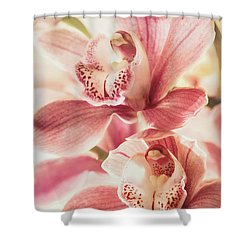 Double Sweetness Shower Curtain by Kim Andelkovic