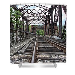 Double Truss Bridge #1679 On The Wmsr Shower Curtain
