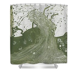Double Up Wave Shower Curtain by Talisa Hartley