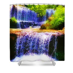 Double Waterfall Shower Curtain by Bill Cannon