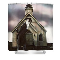 Shower Curtain featuring the painting Doubt Or Faith by Dave Luebbert