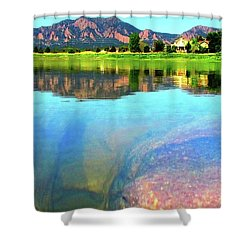 Shower Curtain featuring the photograph Doughnut Lake by Eric Dee
