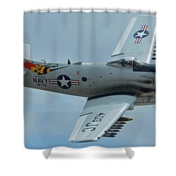 Shower Curtain featuring the photograph Douglas A-1d Skyraider Nx409z Chino California April 30 2016 by Brian Lockett