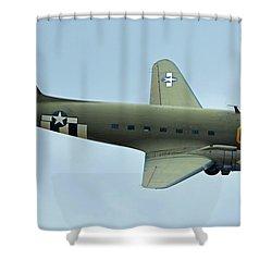 Douglas C-47b Dakota N47sj Betsy's Biscuit Bomber Chino California April 30 2016 Shower Curtain by Brian Lockett