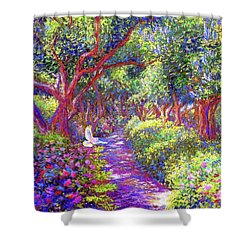 Dove And Healing Garden Shower Curtain by Jane Small