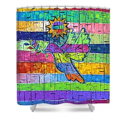 Dove Of Peace, Color And Light Shower Curtain