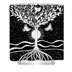 Dove Tree Shower Curtain