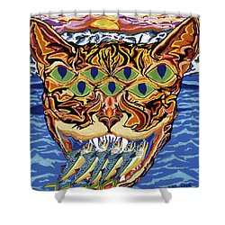 Dover Cat Shower Curtain by Robert SORENSEN