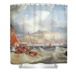 Dover Shower Curtain by John Wilson Carmichael