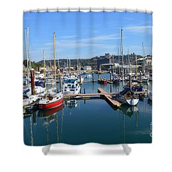 Dover Marina Uk Shower Curtain