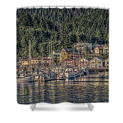 Down At The Basin Shower Curtain by Timothy Latta