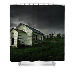 Down At The Schoolyard Shower Curtain