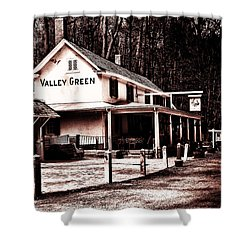 Down At Valley Green Shower Curtain by Bill Cannon