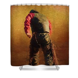 Down But Not Out Shower Curtain by Jim  Hatch