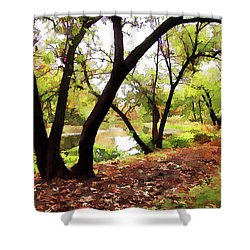 Shower Curtain featuring the photograph Down By --- by Betsy Zimmerli