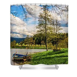 Shower Curtain featuring the photograph Down By The Lake  by David Dehner