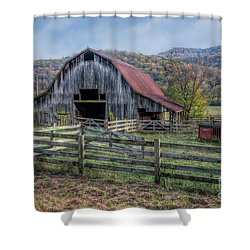 Down In The Valley Shower Curtain