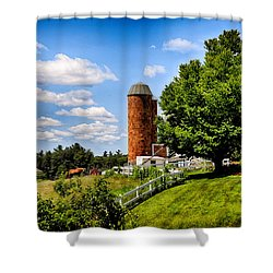 Down On The Farm Shower Curtain by Tricia Marchlik