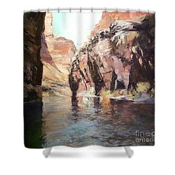 Down Stream On The Mighty Colorado River Shower Curtain
