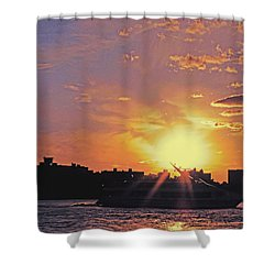 Down The Hudson Shower Curtain