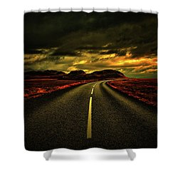 Shower Curtain featuring the photograph Down The Road by Scott Mahon
