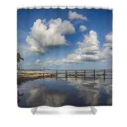 Down The Shore Shower Curtain